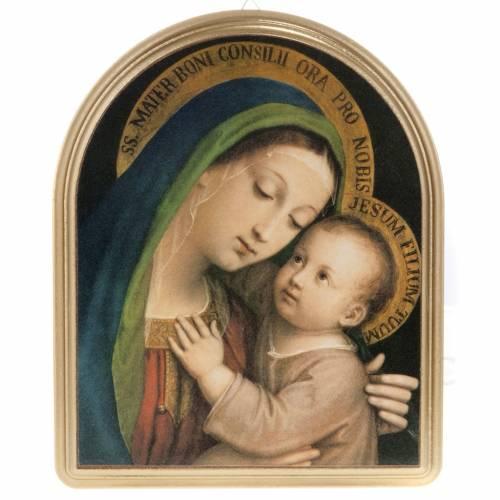 Tableau Notre Dame du bon conseil cadre doré s1