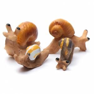 Animali presepe: Lumache presepe resina 4 pz h reale 2 cm