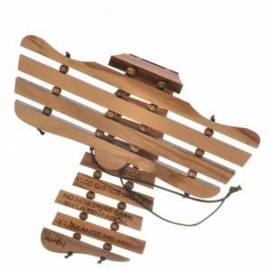 Taukreuze, Wandtaukreuze: Taukreuz mit Gebet auf Spanisch Olivenholz