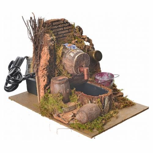 Taverne avec pompe et sceau 20x14x16 cm s3