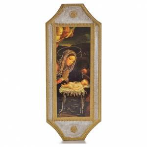 Tavola sagomata 18,5x7,5 cm Adorazione del bambino s1