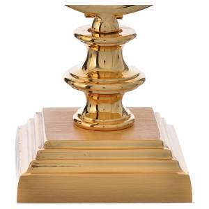 Teca ostia 7,5 cm ottone dorato h 15 cm s3