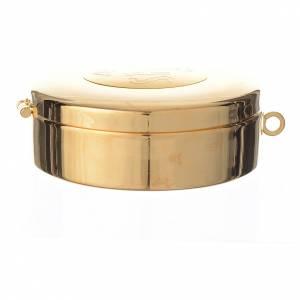 Teca ottone dorato incisione IHS diam cm 8 s3