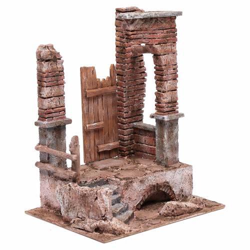 Tempio colonne in mattoni 30x25x20 cm s3