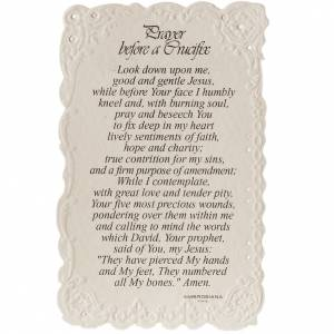 The Crucifix holy card with prayer in ENGLISH s2