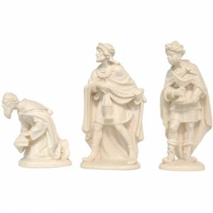 Three Wise Men for nativities in Valgardena wood, natural wax s1