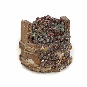Tina de uva negra pesebre Nápoles 3cm diámetro s1
