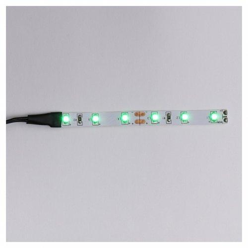 Tira de 6 LED cm. 0.8x8 cm. verde Frisalight s1
