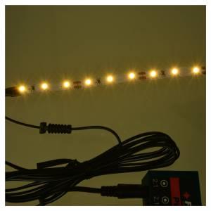 Tira de 9 LED cm. 0.8x12 cm. blanca caliente Frisalight s2