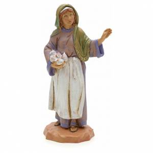 Tisseuse avec ses belotes crèche Fontanini 12 cm s1