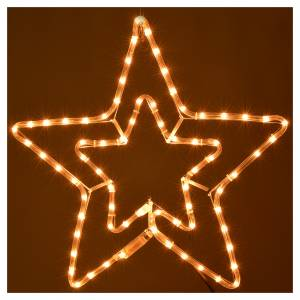 Étoile lumineuse double extérieur lumière claire s2