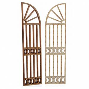 Türen, Geländer: Tor aus Holz 2 St. 15x13cm