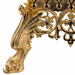 Trono de latón fundido dorado s3