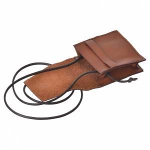 Étui à custode marron cuir véritable Bethléem pour custode 5,5 cm s3