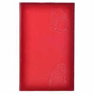 Étui liturgie heures 4 vol. cuir rouge 4 Évangélistes s1