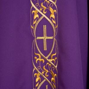 Chasuble liturgique avec broderie IHS s5