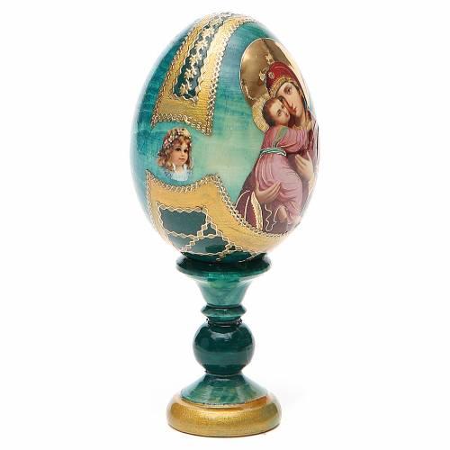 Uovo icona Russa Vladimirskaya h tot. 13 cm stile Fabergé s4