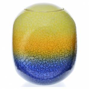 Urne funéraire porcelaine carrée émaillée mod. Murano Colours s2