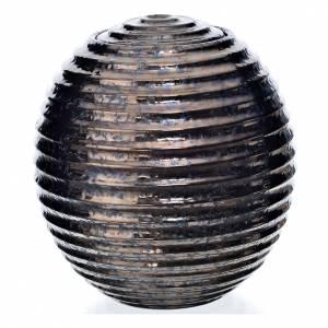 Urne funéraire porcelaine peinte à main type bronze s1