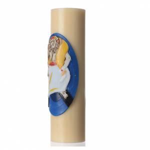 STOCK Vela de Altar Logo Jubileo de la Misericordia, cera de abeja, diám 8 cm s2