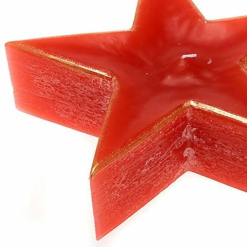 Vela Navidad estrella roja s2
