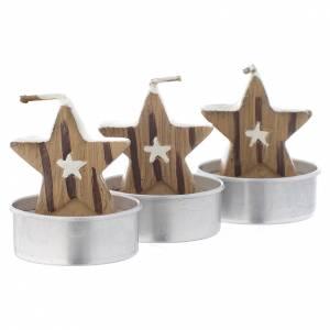 Vela navideña estrella, juego de 3 piezas s2