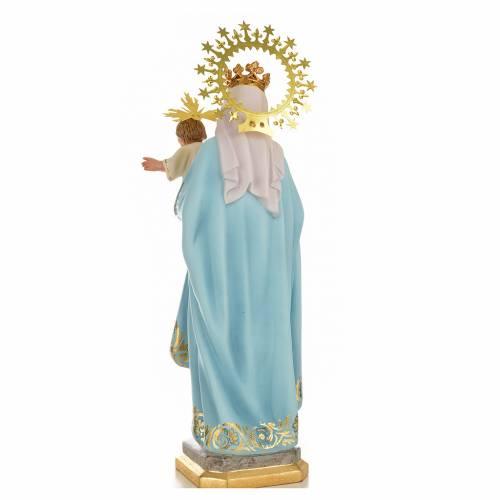 Vergine del rosario 50 cm pasta di legno dec. superiore s3