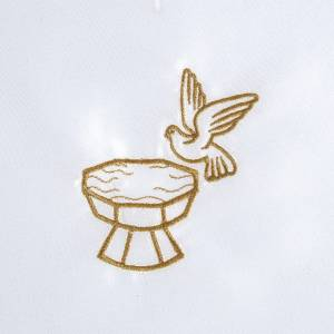 Camicini e Candele: Vestina battesimo raso colomba fonte battesimale