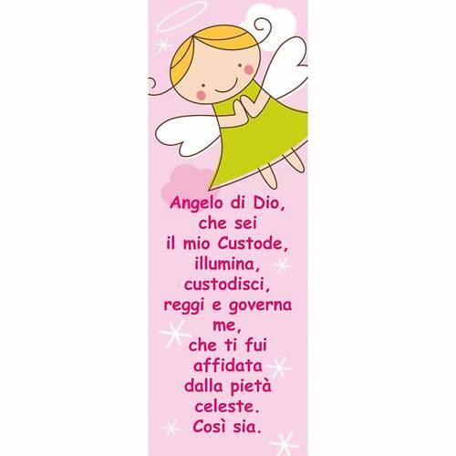 Vetrofania Angelo di Dio rosa 10,5X30 cm s1