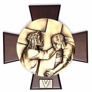 Vía Crucis 14 estaciones latón fundido sobre placa s5