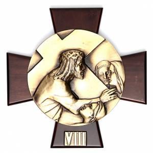 Vía Crucis 14 estaciones latón fundido sobre placa s8