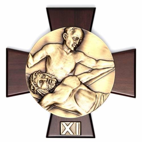 Vía Crucis 14 estaciones latón fundido sobre placa s11