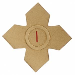 Vía Crucis: Via Crucis: 15 cruces doradas numeradas madera