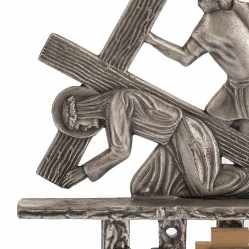 Via Crucis 15 stazioni bronzo argentato s2