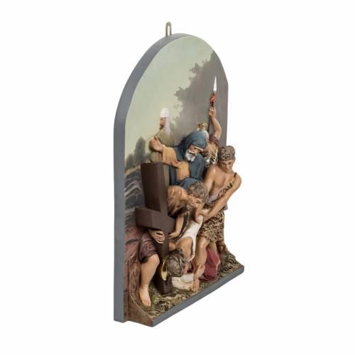 Via Crucis 15 stazioni rilievo classica pasta di legno s7