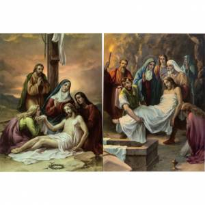Via Crucis 15 stazioni stampa legno s9