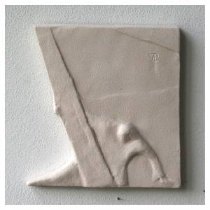 Vía Crucis cuadros irregulares 20x294 cm arcilla Centro Ave s12