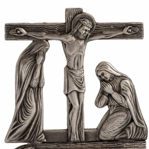 Vía Crucis estailizada 15 estaciones en bronce plateado s2