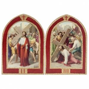 Via Crucis: tavole ogivali legno 15 stazioni s4