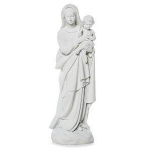 Statues en marbre reconstitué: Vierge à l'enfant poudre de marbre 60 cm