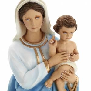 Vierge à l'enfant statue fibre de verre 60 cm s2