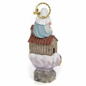 Vierge de Lorette 20 cm fin. élégante pâte à bois s3
