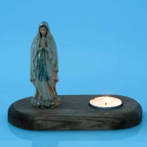 Vierge de Lourdes avec lampe votive s3