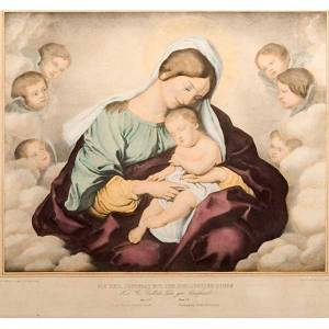 Vierge des anges, impression d'origine florentine s4