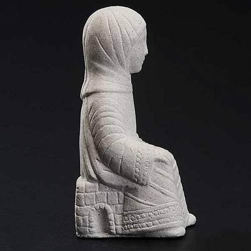 Vierge Marie Crèche d'Automne pierre blanche s3