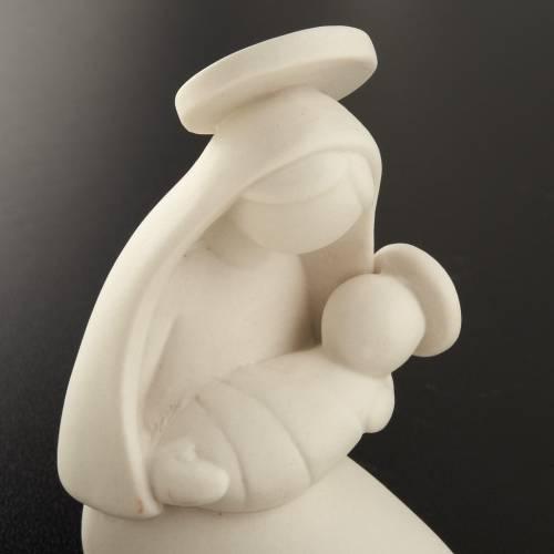 Vierge Marie stylisée et enfant céramique 10 cm s3