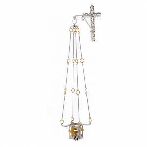 Vigil light lamp to hang 75 cm high bronze s6