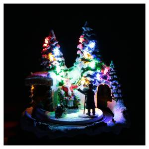 Villaggio natalizio treno in movimento e fotografo 20x20x20 cm s4