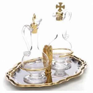 Vinajeras plato dorado niquelado angelito s2