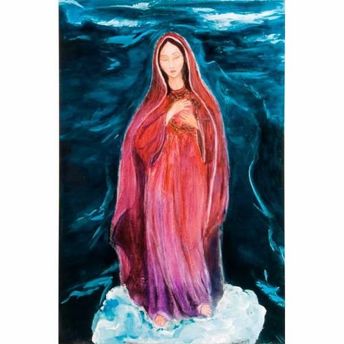 Virgen de los Dolores estampa litográfica s1